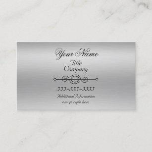 Brushed aluminum business cards zazzle brushed aluminum print business cards colourmoves