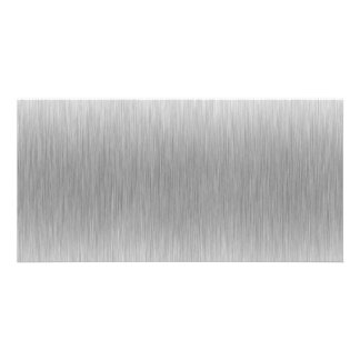 Brushed Aluminum Stainless Steel Textured Card