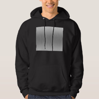 Brushed Aluminum Stainless Steel Textured Hoodie