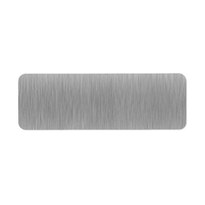 Brushed Aluminum Stainless Steel Textured Label