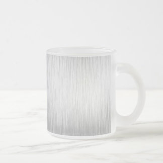 Brushed Aluminum Stainless Steel Textured Coffee Mugs
