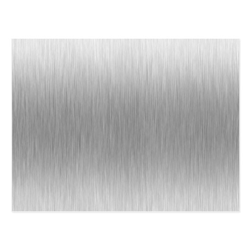 Brushed Aluminum Stainless Steel Textured Postcard