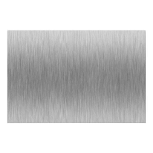 Brushed Aluminum Stainless Steel Textured Poster
