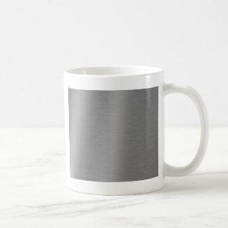 Brushed Aluminum Texture Coffee Mug
