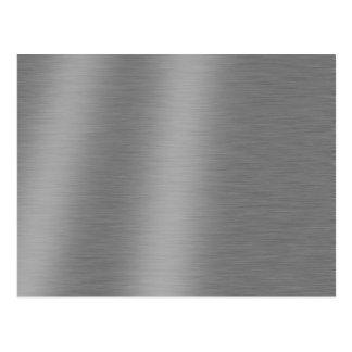 Brushed Aluminum Texture Postcard