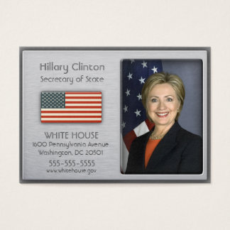 Brushed Aluminum with American Flag Profile Cards