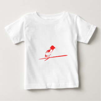 Brushed Bird(red) Baby T-Shirt