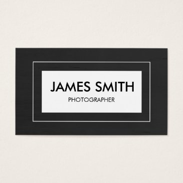 Professional Business Brushed Black Business Card