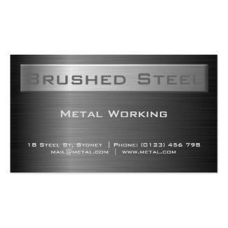 Brushed Black Steel Business card