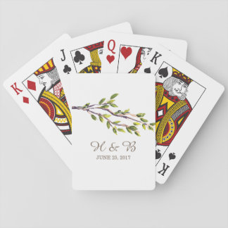 Brushed Branches Wedding Playing Cards