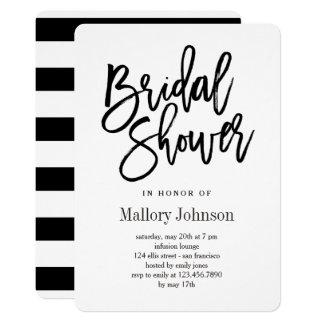 Brushed Bridal Shower Invitations