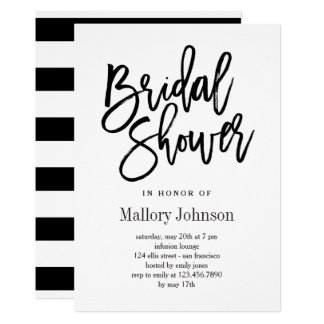 Brushed Bridal Shower Invitations