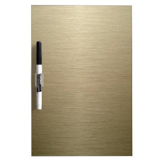 Brushed Bronze Dry Erase Whiteboards