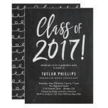Brushed Chalk Graduation Party Invitation at Zazzle