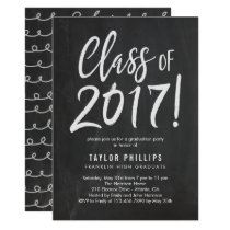 Brushed Chalk Graduation Party Invitation