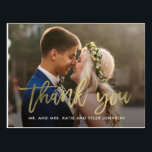 "Brushed Charm Wedding Thank You Card Postcard<br><div class=""desc"">Sending out your thank you note will be a breeze with this chic and stylish thank you postcard. Visit our designs showroom at WWW.BERRYBERRYSWEET.COM</div>"