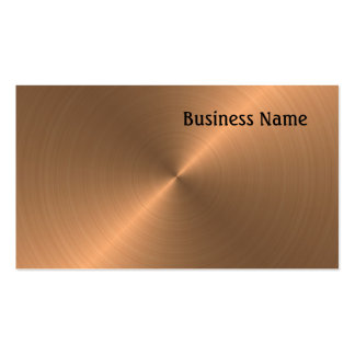 Brushed Copper Business Card Templates