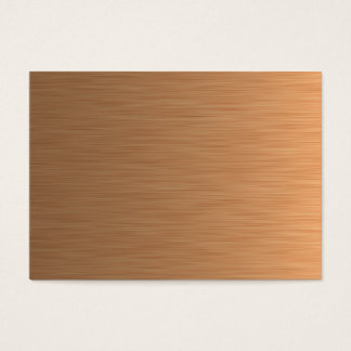 Brushed Copper Business Card