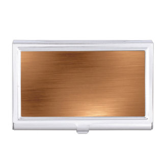 Brushed Copper Look Business Card Case