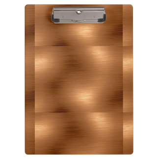 Brushed Copper Look Clipboard