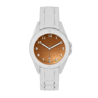 Brushed Copper Metallic Design Watch
