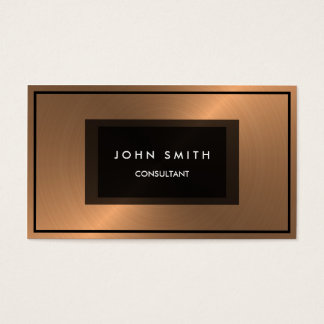 Brushed Copper Metallic Look, Two Sided Business Card
