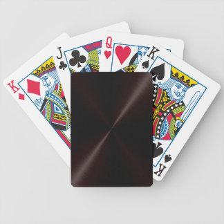 Brushed Dark Metal Playing Cards