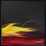 "Brushed Flames American MoJo Napkin<br><div class=""desc"">Realistic air brushed flames in yellow and red streak across these napkins. Great for the man cave,  or a single guys home.