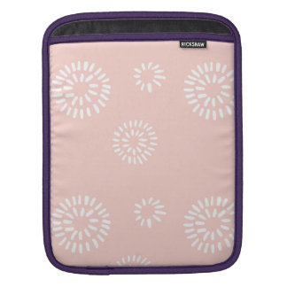 Brushed Flowers Sleeve For iPads