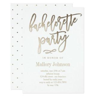 Brushed Glimmer Bachelorette Party Invitation