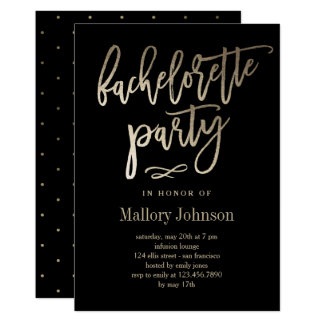 Brushed Glimmer Bachelorette Party Invitation