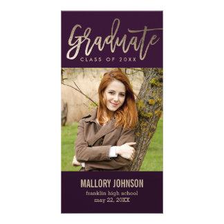 Brushed Glimmer EDITABLE COLOR Graduation Card