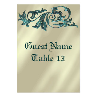 Brushed Gold Art Deco Wedding Table Card Business Card Templates