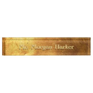Brushed Gold Engraved Nameplate