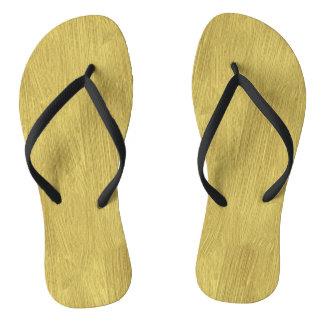 Brushed Gold Flip Flops