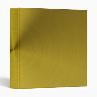 Brushed gold metal 3 ring binder