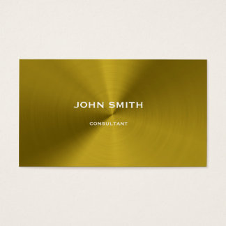 Brushed gold metal business card