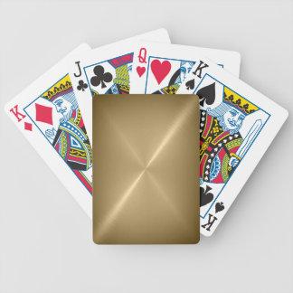 Brushed Gold Metal Playing Cards