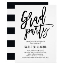 Brushed Graduation Party Invitation