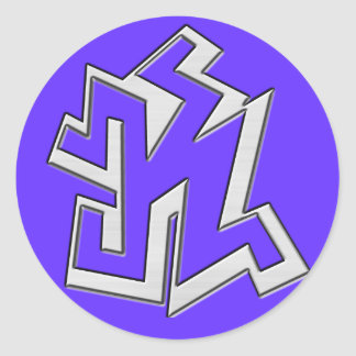 Brushed Graffiti Monogram Stickers