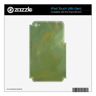 Brushed Green Abstract Decal For iPod Touch 4G