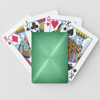 Brushed Green Metal Playing Cards