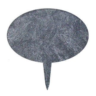Brushed Grey Stone Granite Texture Background Cake Topper