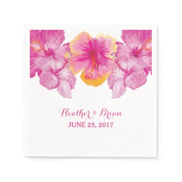 trendythings Brushed Hibiscus Floral Paper Napkins