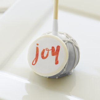 Brushed Joy Red and White Christmas Cake Pops