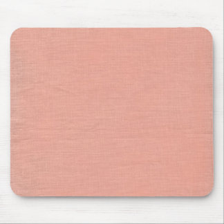 Brushed linen fabric background texture // Peach Mouse Pad