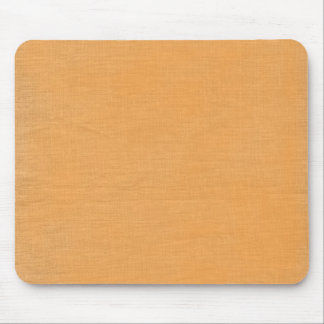 Brushed linen fabric texture background // Orange Mouse Pad