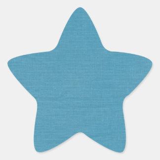 Brushed linen fabric texture // Ocean Blue Star Sticker