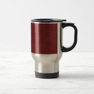 Brushed Linen Texture // Crimson Coffee Mugs