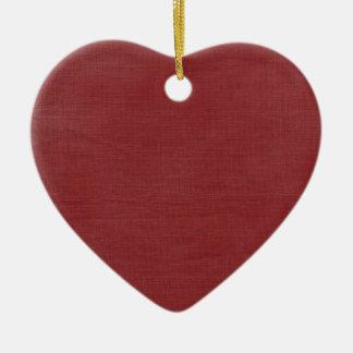 Brushed Linen Texture // Crimson Christmas Tree Ornaments